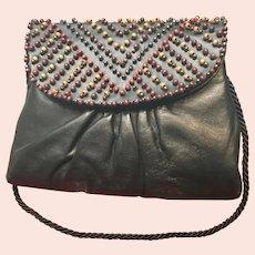 Vintage Jacomo Kid Leather Purse with Unusual Beading