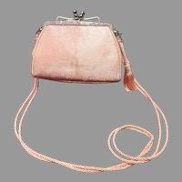 VIntage Leiber Baby Pink Purse with Swarovski Crystals