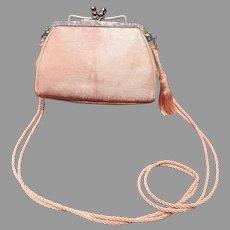 VIntage Leiber Baby Pink Purse with Swarovski Crystals