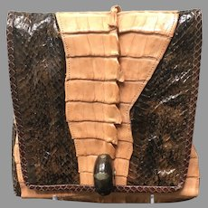 Vintage Grace Agostino Alligator Purse with Python Accents