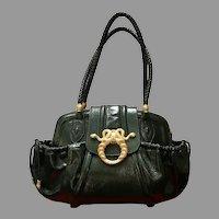Vintage Rachel Zoe for Judith Leiber Medusa Handbag