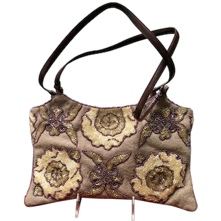 Vintage Jamin Puech Wool Evening Purse with Beading