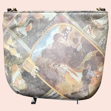 Vintage Coblentz Leather Purse with Painted Persian Scenes