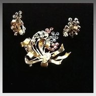 Vintage Demi Parure:  Brooch and Earrings