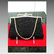VIntage Black Beaded Evening Purse with Unique Design ***LAST CHANCE***
