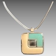 Vintage Modernist Lanvin Pendant Necklace