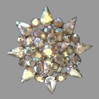 "VIntage Weiss Aurora Borealis ""Snowflake"" Brooch"