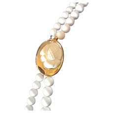 Vintage Lanvin Opera Lucite Necklace with Statement Pendant