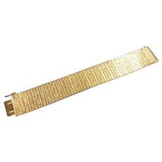 Vintage Jewellery Costume Bracelet Grosse Signed Germany 1967 Gold Tone 1970s
