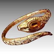 Vintage Art Deco Expandable Snake Bracelet Gold Filled French