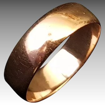 Antique Victorian French 18k Gold Wedding Ring / Band