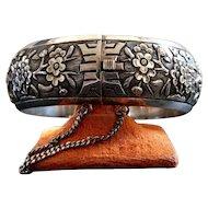 Vintage Silver Chinese or Indochinese Bangle Bracelet