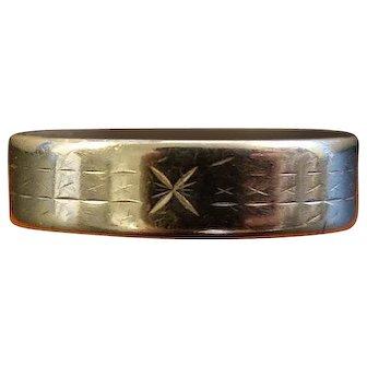 Vintage French 18K Gold Wedding Band Ring