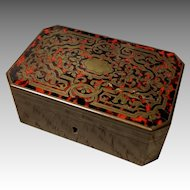 Antique 19th C Napoleon III  Boulle Signed TAHAN Box