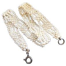 Vintage Art Deco FRench Natural Pearl Bracelet