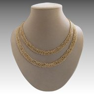Vintage Art Deco French Natural Pearl Necklace
