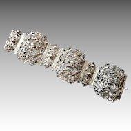 Antique Victorian Silver Neo Gothic Bracelet Chimera