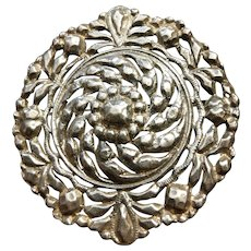 Victorian French Silver Brooch / Pendant