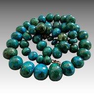 Genuine Vintage Eilat Stone Beads Necklace Jewish Jewelry