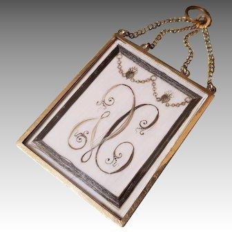 Georgian 18k gold Hairwork Pendant Sentimental Jewelry