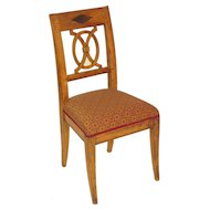 Directoire fruitwood side chair