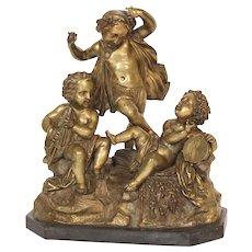 Bronze group of cupids