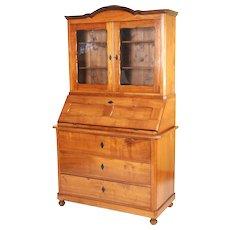 Biedermeier fruit wood secretary