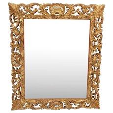 Baroque style gilt wood mirror