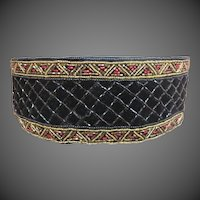 Vintage Christian Dior Stunning Beaded Velvet belt