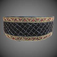 Vintage Christian Dior Stunning Beaded Velvet belt
