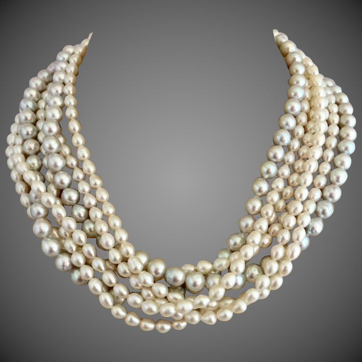b17c946eabc44 Tiffany & Co. Paloma Picasso Fresh Water Pearl Torsade Sterling Silver  Necklace
