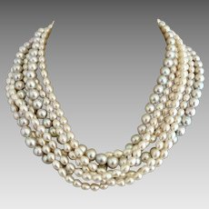 Tiffany & Co. Paloma Picasso Fresh Water Pearl Torsade Sterling Silver Necklace