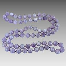 Retro Genuine Amethyst Gemstone Beaded Necklace