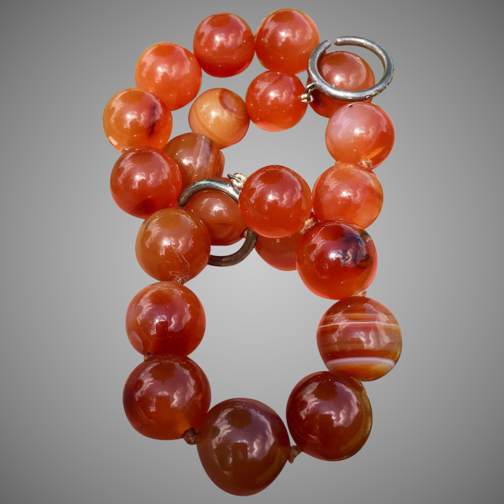 089ac2806 Tiffany & Co. Paloma Picasso Sterling Silver Carnelian Gemstone Beaded  Necklace