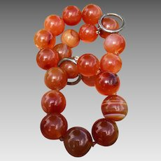 Tiffany & Co. Paloma Picasso Sterling Silver Carnelian Gemstone Beaded Necklace