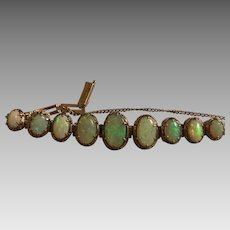 Antique Edwardian 10k Gold Australian Opal Bracelet