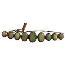 Antique Edwardian 10k Gold Australian Opal Bracelet