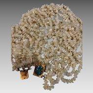 14k Art Deco Gold Diamond Opal Gemstone Nugget Torsade Necklace Heavy 206.6 Grams