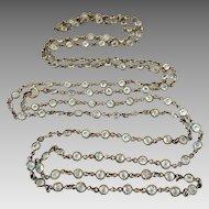 Czech Art Deco Open Back Bezel Set Crystal Necklace