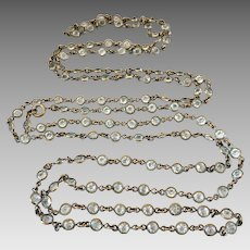 Czech Art Deco Open Back Bezel Set Crystal Necklace