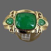 14k Gold Jade Jadeite Ring