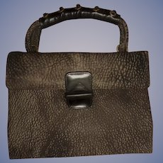 Vintage NEW Never Worn Tano Box Purse Handbag with Braided Leather Handle Two Tone STUNNING