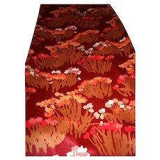 1980 Sateen 20 Yards Bolt Designer Bob Van Allen Fabric Polished Cotton Red Floral Spring Vintage Never Used
