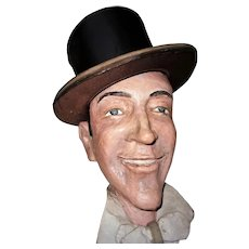 Hollywood Royalty Fred Astaire Paper Mache Life-Size Head Sculpture Prop Vintage