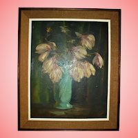 VINCENT NESBERT Famed Pittsburg Artist Oil Painting Still Life Polish American WPA Era Listed Artist
