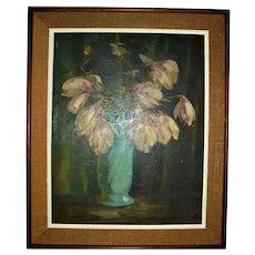 VINCENT NESBERT Famed Pittsburg Artist Oil Painting Still Life Polish American WPA Era Listed Artist