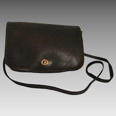 Bonnie Cashin Coach New York City Espresso Brown Glove Leather 1970s Coach Crossbody Shoulder Bag Handbag Brass Hardware NYC