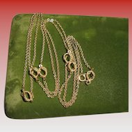 """14K Gold Opera length Italy Unoaerre 38"""" inch Modernist Circles Chain Necklace"""