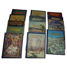15 American Christmas Annuals Literary & Art Book Set Vintage 1930's to 70's Yearly Annual Set