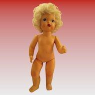 "Vintage Terri Lee Pat Pending Doll Painted Face Hard Plastic 16"" Tall"